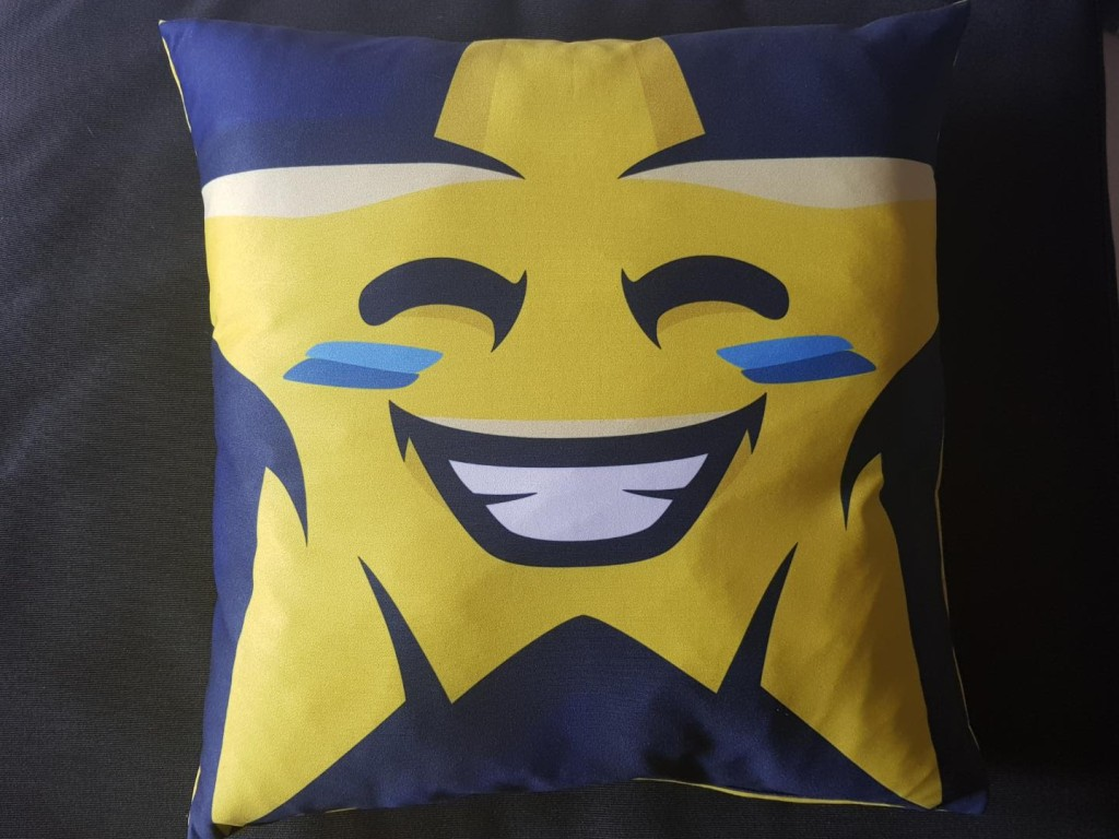 Poduszka klubowa - niebieska